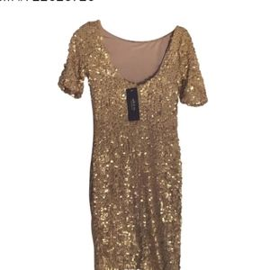 Ark & Co. Gold Sequin Mini Night Out Dress